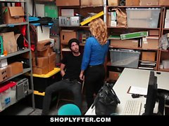 Shoplyfter - Hot MILF Dominates Young Thief For Stealing