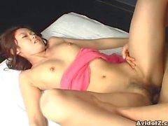 Kaoru Mugi gets a nice creampie!
