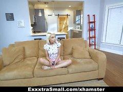ExxxtraSmall - Petite Blonde Fucks Stepdad
