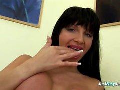 JustEasySex Big titted Milf Dildoing Her Twat