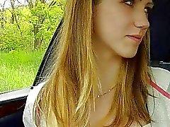 Stranded teen slut fucked hard in public