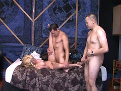 Sexy blonde, Scarlett Monroe, gets it on with a...