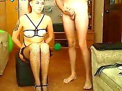Tied Up Webcam Girl Deep Throat BJ