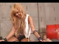 Hot Blonde Asian Giving Blowjobs For 2 Guys Licked On The Bed In The Basement