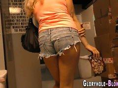 stora kukar blondin avsugning glory hole hd