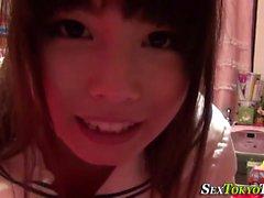 Uniformed asian touching