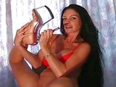 High heels striptease