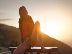 Sunset in Malibu in art masturbate movie