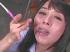 japanese cum brushing scene selected