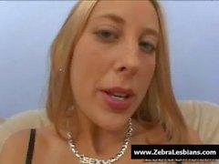 Zebra Lesbians - Sexy ebony lesbians fuck with strap-on toy 20
