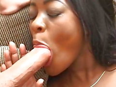 Sexy Black Teen 1st Anal MMF Interracial