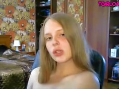 Teen blonde Russian tgirl Webcam
