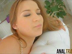 Big boobs Ukrainian teen Yuliana gets her juicy anal wrecked