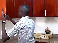 Ethiopian barebacker getting drilled