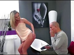 Czech blonde Vinna Reed fucks an old guy