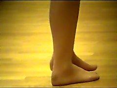 feticismo del piede nylon calze