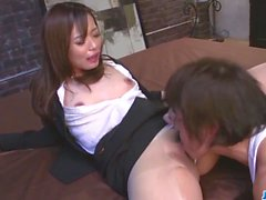 Dazzling scenes of harsh sex with office babe Shiona Suzumor
