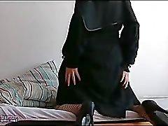 Arab Egypt Wife In Niqab Hijab Anal Masturbation