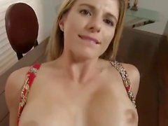 Horny Step Mom Takes Care Of Her Boy