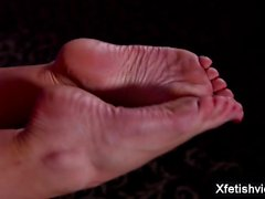 Big tits pornstar foot fetish with cumshot