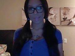 grandi tette occhiali webcam bambino big- le tette