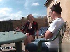 blondine blowjob französisch handjob