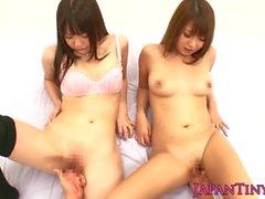Squirting japanese bukkake gang bang teen