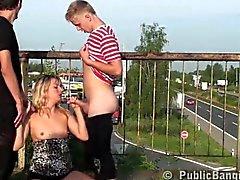 PUBLIC sex orgy on the bridge Part 2