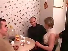 Fat Russian Mom In A Foursome