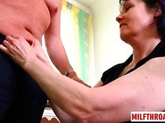 Hot milf blowjob and cumshot