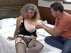 Agedlove granny with big tits banged