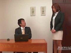 caribbeancom gata japonesa grande peituda peitos milf morena meia-calça bolha bunda grande bunda escritório sem censura