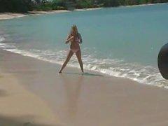 öffentlichkeit außerhalb strand nackt - strand bikini