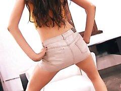 Perfect Ass Skinny Teen Upskirt Cameltoe and Big Tits Brunet