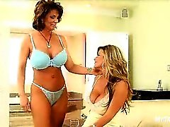 I'm a sucker for MILFs with big breasts and if you're anything like me, then this scene with Kystal Summers and Deauxma is right up your alley. You'll find these ladies in the kitchen, dishing out their big tits and eating each other out on the kitchen co