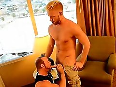 Gay guys He should be working, but jaw-dropping blonde hunk