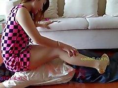 entortillement hd asiatique pieds