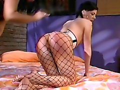 Babe is fishnet stocking likes the attention an ass whooping gives her