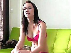 Honey gives a spectacular dildo sucking experience