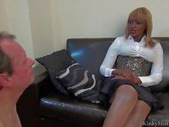 Mistress AVA Black Ebony Feet Worshiped