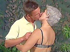 Slim Horny GreyHaired Slut Gets Fucked