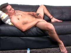 Straight Military Dude Jerking VERY Big Uncut Cock