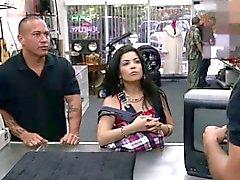 Brunette Cuban gets big dick as exchange