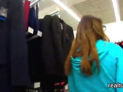 Stunning czech cutie gets seduced in the hypermarket and sha