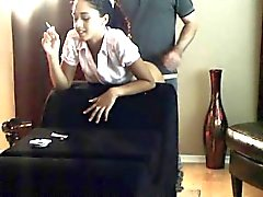 Charming brunette with a spicy ass gets used and abused by