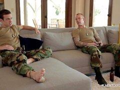 NextDoorBuddies Str8 Military Hunk Fucks Gay Friend