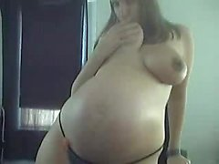 Youthful 9 Weeks Pregnant In Undies Teasing on Camera