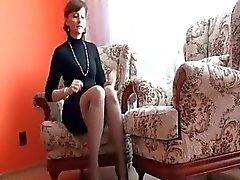 milf mature corné brunette femme