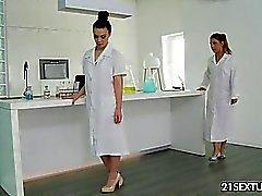 NudeFightClub presents: laboratory fight