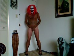 demented pantyhose clown